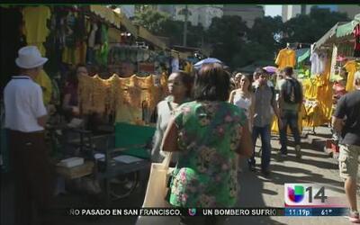 El mercado de la uruguaiana, sitio de comercio en Río