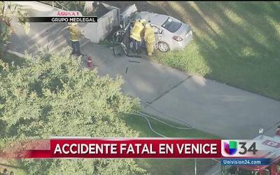 Accidente fatal en Venice