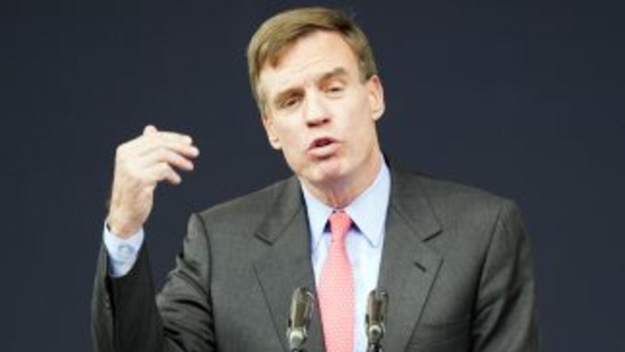 El Senador demócrata de Virginia Mark Warner.