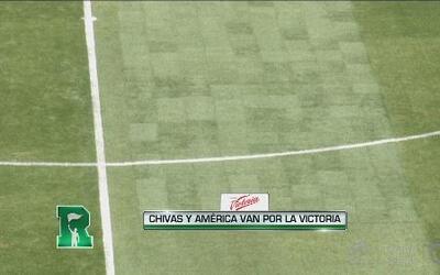Gran parche en la grama del Omnilife para el clásico Chivas vs América