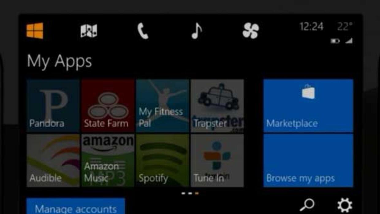 Microsoft anunció su nuevo sistema de infotenimiento para el auto.