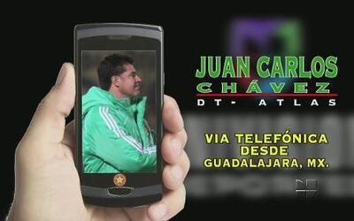 Juan Carlos Chavez, el DT de Atlas habló vía telefonica sobre el club