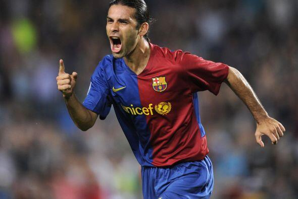 Su primer gol con el equipo blaugrana, lo anotó en su primera temporada,...