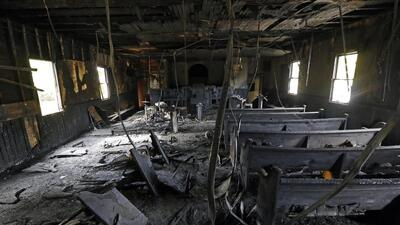 A black church in Mississippi was the site of an arson crime.