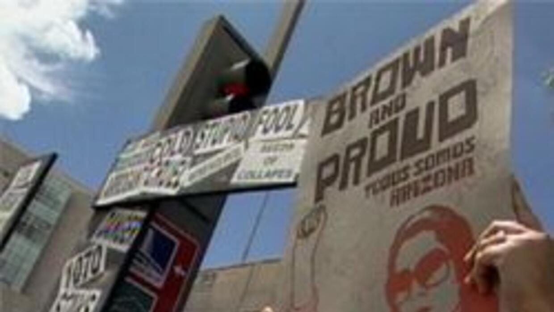 Letreros usados por los manifestantes