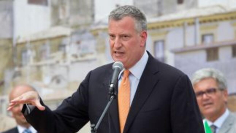 El Alcalde de Nueva York, Bill di Blasio.
