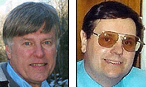 Los candidatos del Partido de la Tercera Postura: Merlin Miller y Harry...
