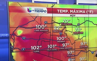 Temperaturas elevadas durante la semana en Arizona
