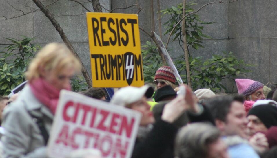 La marcha inició en la plaza One Dag Hammarskjold, cerca de la sede de l...