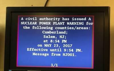Este fue el mensaje sobre una alerta nuclear que residentes de dos conda...