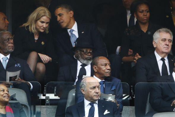 Esta situación incomodó a la primera dama norteamericana según se captó...