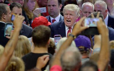 Donald Trump en un mitin en Carolina del Norte el 9 de agosto de 2016