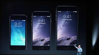 El iPhone 6 medirá  4.7 pulgadas  y el iPhone 6 Plus 5.5 pulgadas.
