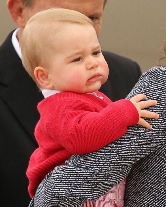 El pequeño George sin duda fue el protagonista de esta gira real.