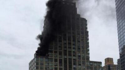 Usuarios de las redes sociales dieron cuenta del fuego. (Imagen tomada d...