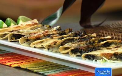 Aprende a hacer quesadillas de Cuitlacoche con Karla Martinez en Despier...