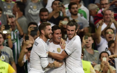 James, Benzema y Bale fueron los anotadores del Real Madrid