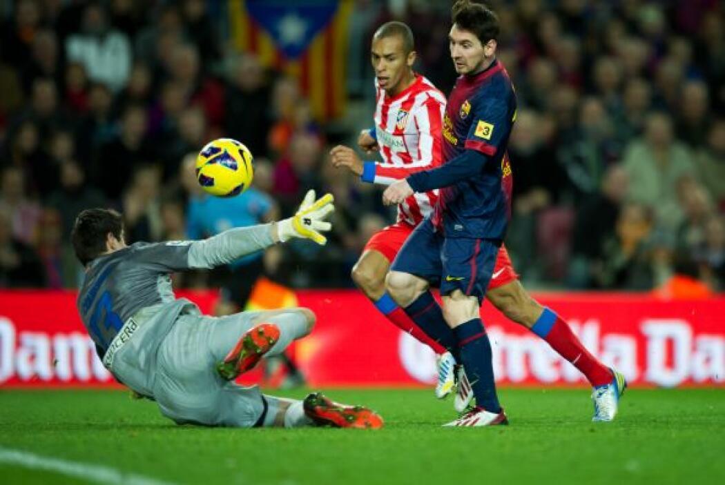 El astro argentino no lució tan brillante ante el Atlético de Madrid, pe...