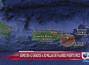 Reportan sismo en Puerto Rico