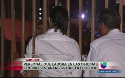 Utier bloquea accesos a oficinas centrales de la AEE en Santurce