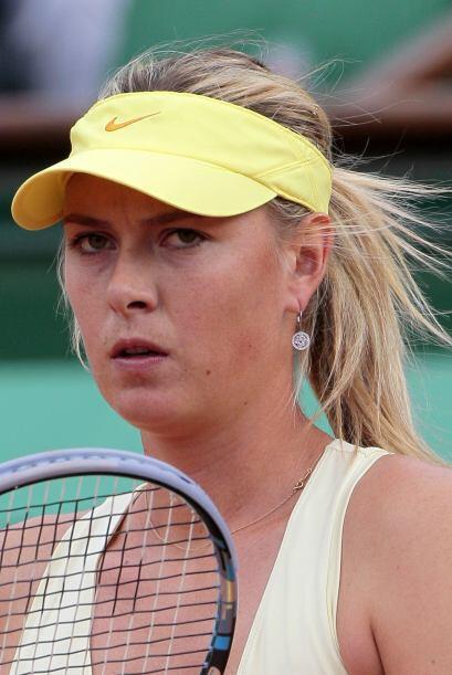 Ciertamente Sharapova estuvo al límite en dos horas y dos minutos que du...