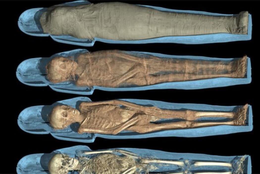 Los investigadores analizaron las momias capa por capa para construir un...
