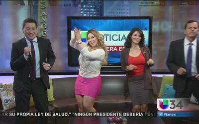 ¡Chiquis bailó con el equipo de Primera Edición!