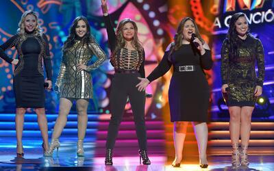 Las chicas cautivaron en el escenario
