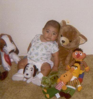 Esta era César a los dos o tres meses de edad.