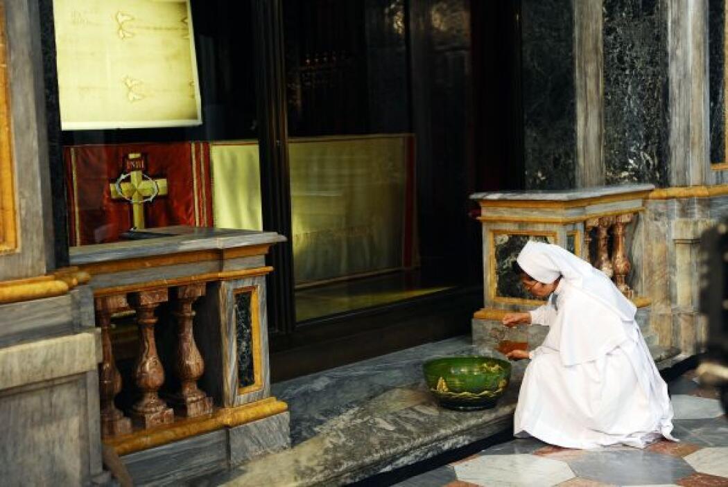 Y en las iglesias también se construyeron las estaciones del Via Crucis.