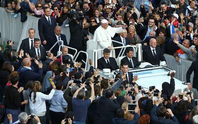 El Papa Francisco clausuró el año extraordinario del jubileo de la miser...