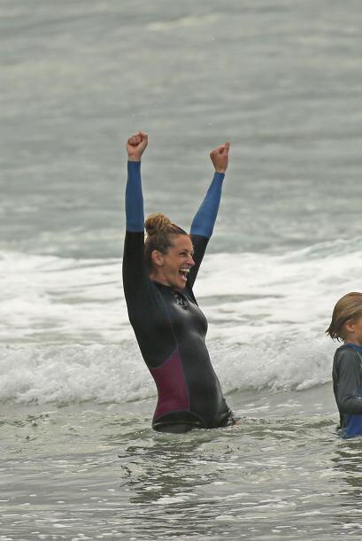 Al contrario, la actriz decepcionó en la playa.Mira aquí l...