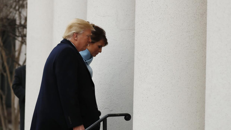 Donald y Melania Trump llegan a la Iglesia de St. John