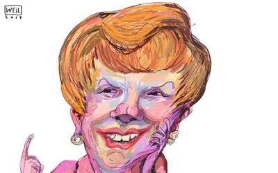 El artista venezolano Roberto Weil dibujó una Sofía justo...