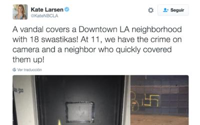 Pintadas de esvásticas en el centro de Los Ángeles