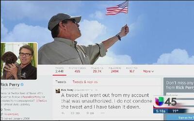 Rick Perry no autorizó twit despectivo