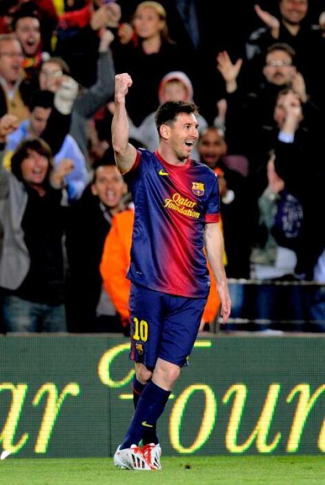 Lionel era el autor del 3-2 con el que los barcelonistas al fin estaban...