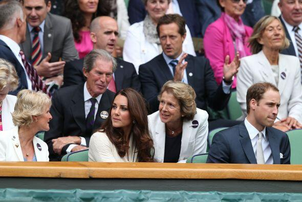 La pareja repitió su gusto por apoyar a Murray, ya que en la edic...