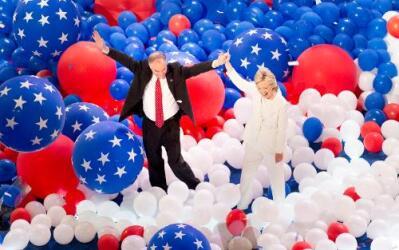 Los candidatos demócratas Hillary Clinton y Tim Kaine.