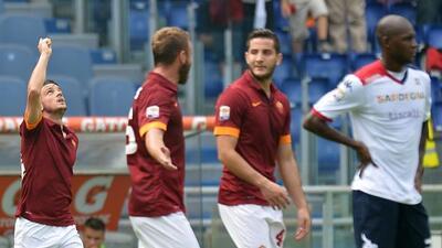 Los romanos sacaron los tres puntos ante el Cagliari.