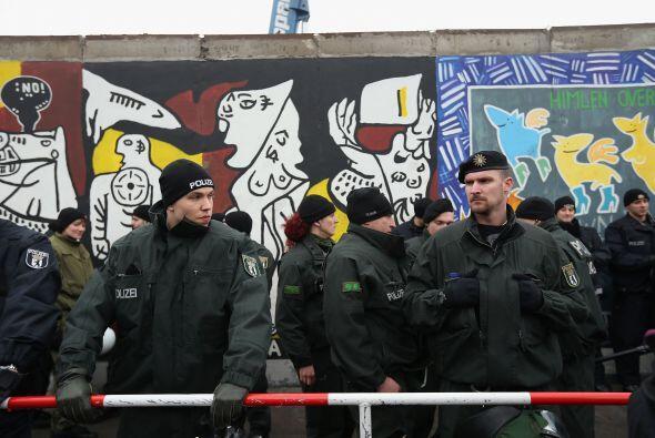 El Muro de Berlín dividió la actual capital alemana durante 28 años, sep...