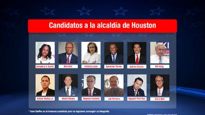 Candidatos a alcaldía de Houston