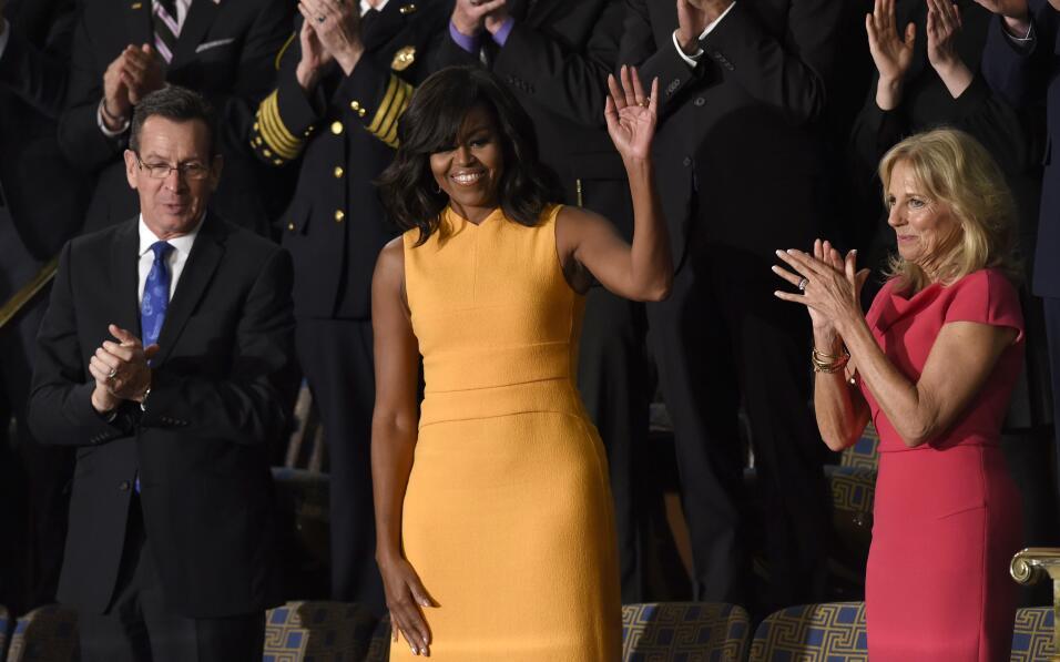 Michelle Obama y su optimismo hecho vestido   GettyImages-504721390.jpg