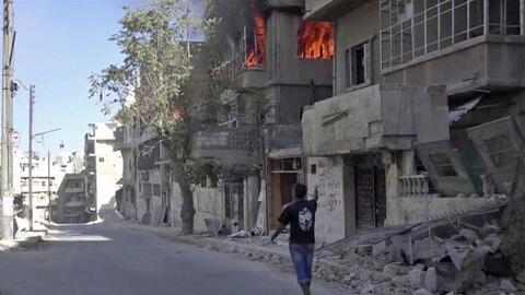 Un barrio de Alepo (Siria) bombardeado