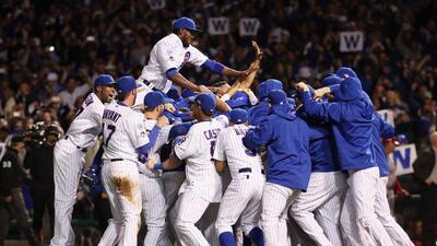 Emoción al máximo por el triunfo de los Cubs