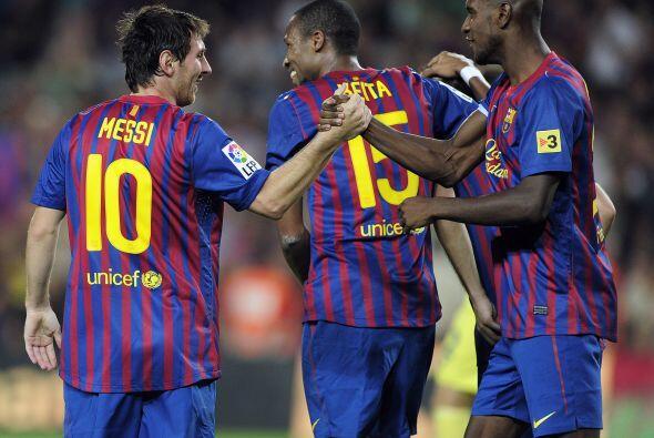 Todos los presentes en el estadio esperaban el gol de Lionel y por fin l...
