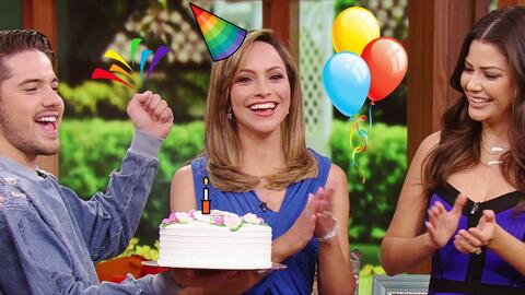 Satcha Pretto sopló la velita de su pastel de cumpleaños en Despierta Am...