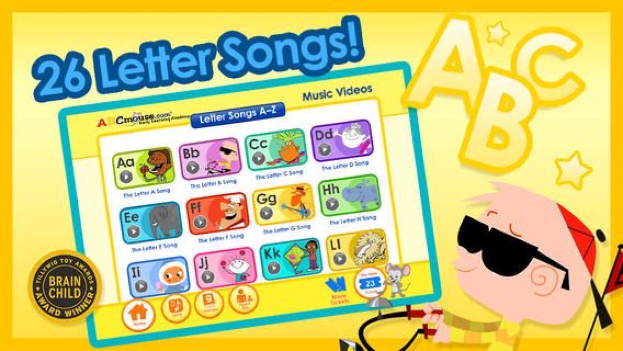 A TO Z MUSIC VIDEOS - Esta aplicación de ABC Mouse ofrece una manera div...