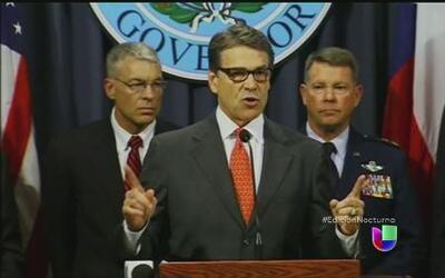 Rick Perry ordenó desplazar mil soldados a la frontera