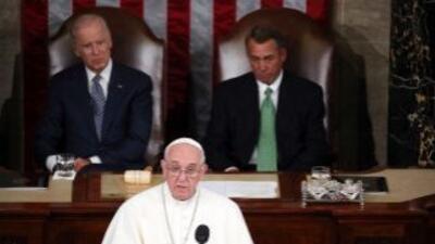 El Papa Francisco pronuncia un discurso ante el Congreso de Estados Unid...